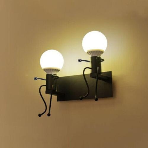retro black wall sconce lighting human shape barn lights led wall fixtures lamp wall fixtures home garden