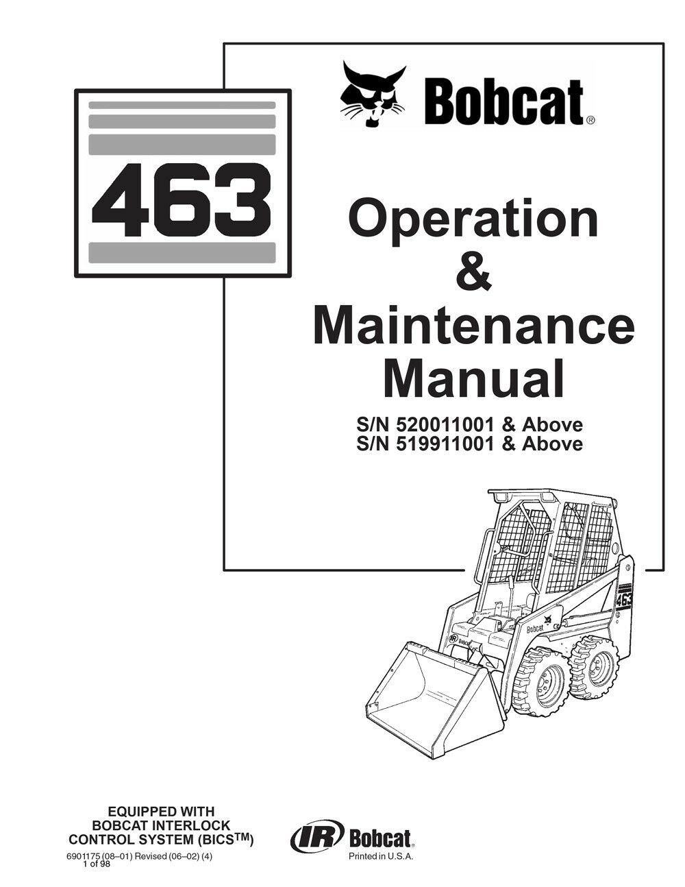 New Bobcat 463 Skid Steer Loader 2006 Edition Repair