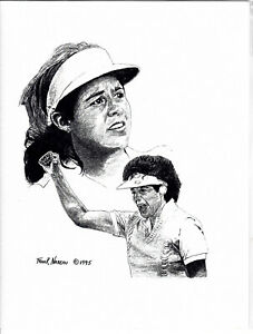 Nancy Lopez Limited Edition Pencil Drawing 8.5