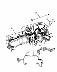 2012 DODGE RAM NEW OEM DASH WIRING HARNESS 68084425AD