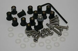 Ducati SS ST Fairing M5 rubber well nuts & stainless