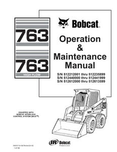 New Bobcat 763 & 763 Highflow Operation & Maintenance