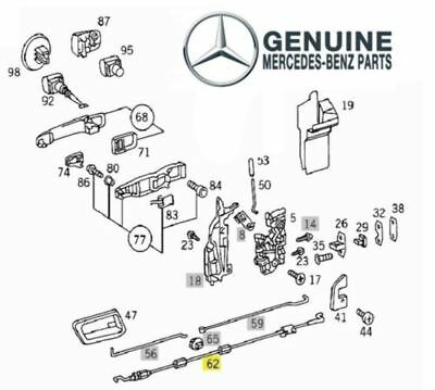 Genuine Mercedes w202 Inside Handle to Door Lock Pull