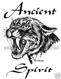 Ancient Spirit T-Shirt: Totem Animal Guide Cat Cougar