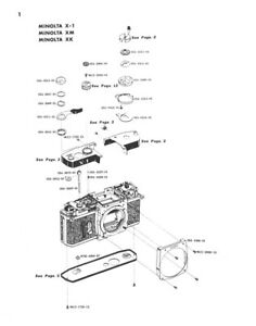 Forte free shipping Minolta XM, X-1, XK Cameras Service