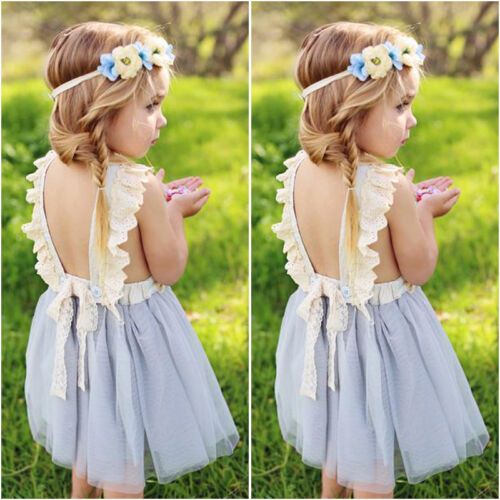 Flower-Girls-Princess-Dress-Kids-Baby-Party-Wedding-Pageant-Lace-Dresses-Clothes