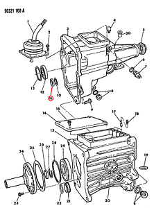 NOS Dodge OEM Manual Transmission Shaft Bearing Cup