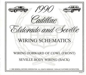 1990 Cadillac Seville + ElDorado Wiring Diagram