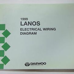 Daewoo Lanos Wiring Diagram 06 Dodge Magnum Stereo 1999 Electrical Service Manual Ebay Image Is Loading