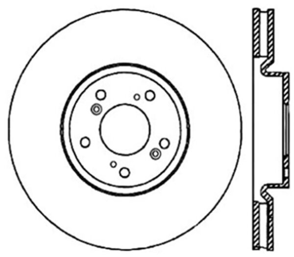 Disc Brake Rotor-Sport Cryo Drilled Disc Front Right