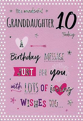 10th Birthday Wishes For Daughter : birthday, wishes, daughter, Granddaughter, Today, Heart, Design, Happy, Birthday, Lovely, Verse