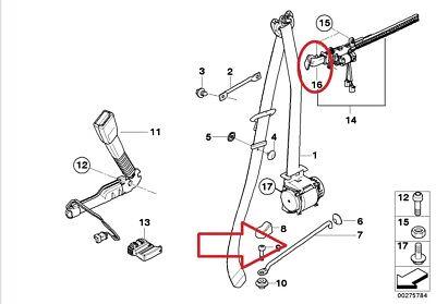 Arm- & Kopflehnen BMW GENUINE 3 E92 06-07 SAFETY SEAT BELT