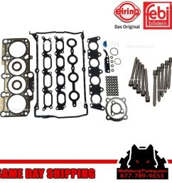 details about oem mk4 vw 1 8t 1 8 turbo cylinder head bolt gasket set headgasket jetta gti 99  [ 1024 x 1024 Pixel ]