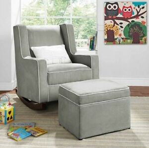rocking chair for nursery french country chairs gray furniture baby kids relax rocker image is loading