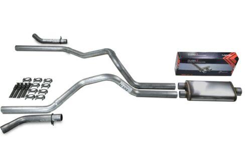 parts accessories car truck parts dodge ram 1500 94 03 2 5 dual exhaust kit flow ii stainless muffler corner exit