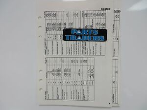 Suzuki Quick Reference Service Manual Data Sheet DR350X