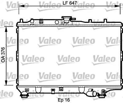 VALEO Engine Cooling Radiator Fits KIA Mentor Sephia Sedan