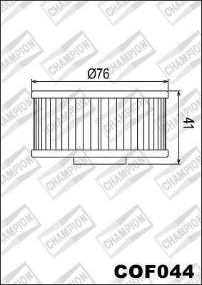 COF044 Oil Filter CHAMPION Yamaha FJ600 L, LC, N, Nc 600