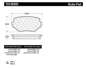 C-TEK Ceramic Brake Pads fits 1996-2005 Suzuki Grand
