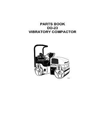 IR Ingersoll Rand DD-23 DD23 Vibratory Compactor Parts