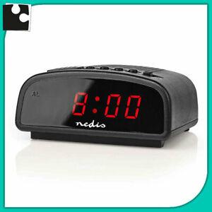 Reacher 9 pollici grande sveglia digitale, led orologio sveglia. Sveglia Digitale Elettrica Led A Batteria Orologio Da Tavolo Comodino Notturna Ebay