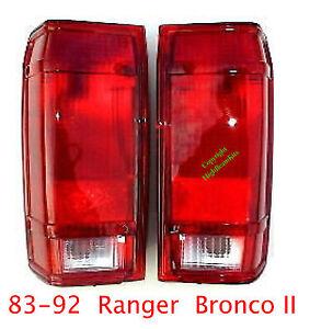 83 92 Ford Ranger & Bronco II Tail Lights Set, Left