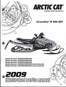 2009 ARCTIC CAT SNOWMOBILE CROSSFIRE R 800 EFI PARTS
