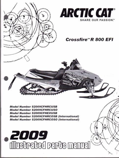 2009 ARCTIC CAT SNOWMOBILE CROSSFIRE R 800 EFI PARTS