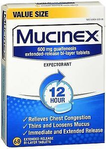 Mucinex Extended-Release Tablets - 60 Ct Pack of 4 ...