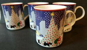 4 Noritake Twas The Night Before Christmas Mugs City Scottie Dogs | eBay