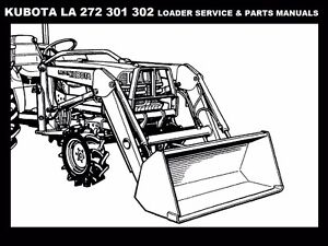 KUBOTA LA272 LA391 LA392 SERVICE & PARTS MANUALS for B1700