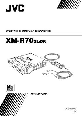 JVC XM-R70 Minidisc Recorder Owners Instruction Manual