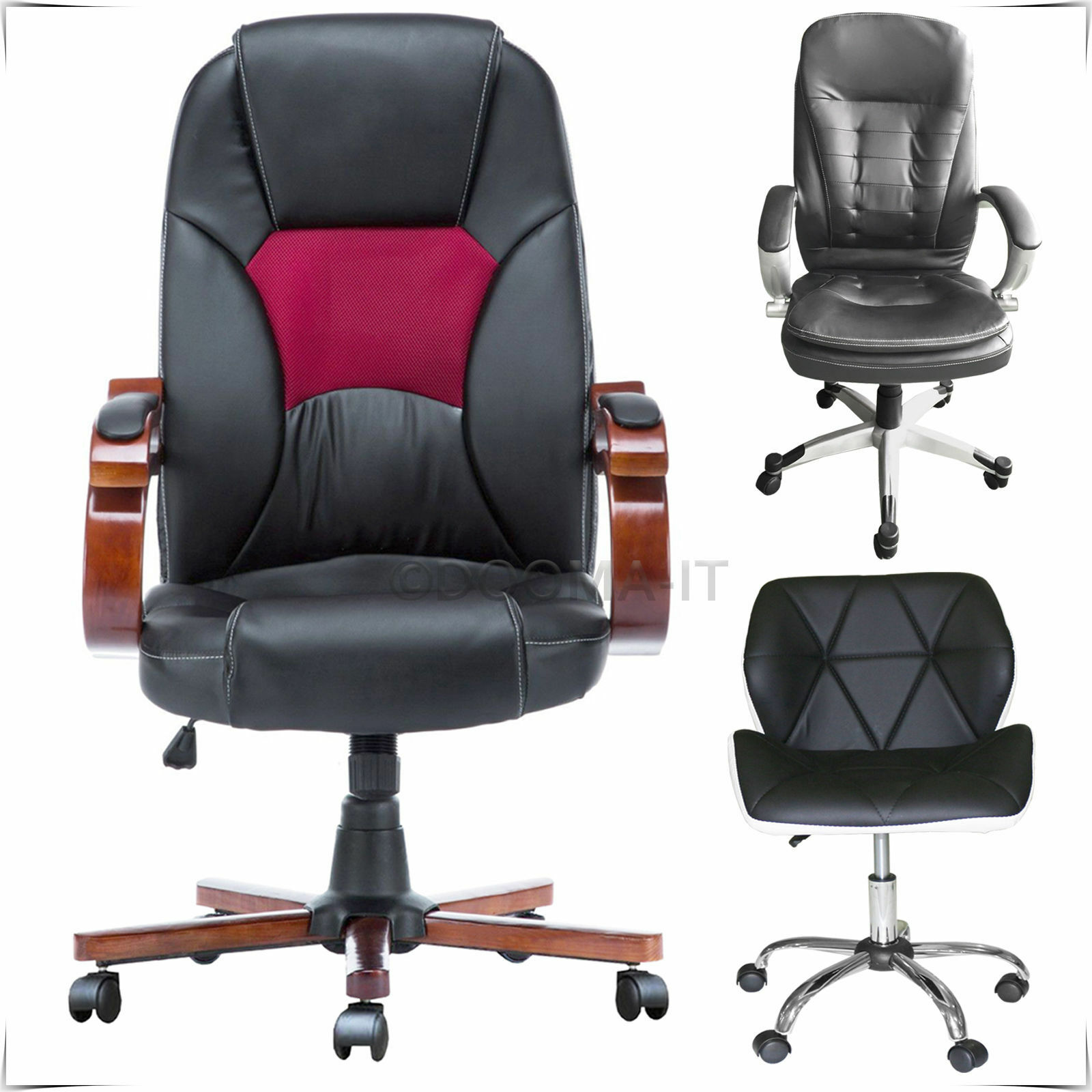 office chair replacement wheels yoga certification ct computer desk faux leather swivel studio