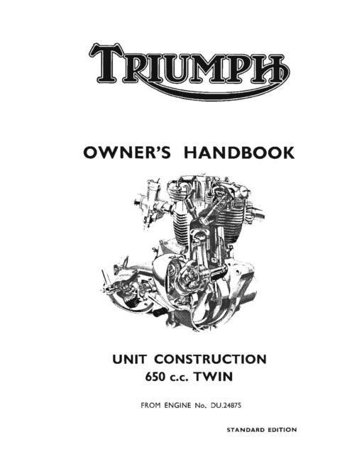 Triumph Owners Manual Book 1966 Thunderbird 6T, Tiger TR6