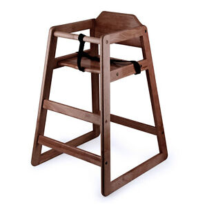 restaurant style high chair metal chairs ikea new wooden with dark finish 755576009314 image is loading