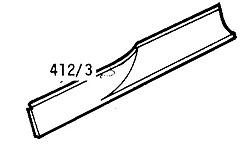 CLASSIC MORRIS MINOR LOWER DOOR SKIN REPAIR PANEL 2DR R/H