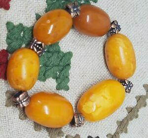 Amber baltic 100% natural old bracelet egg yolk , bernstein