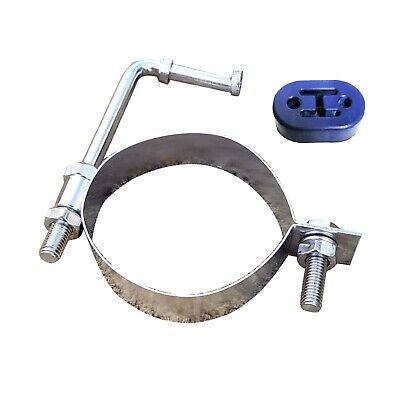 3 76mm universal stainless pipe hanger exhaust bracket tube mount bar strap ebay