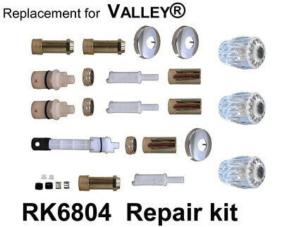 valley 3 handle tub shower valve replacement trim kit chrome plated ebay