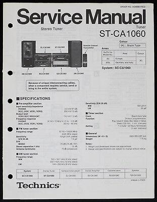 Technics ST-CA1060 Original Tuner Service Manual/Diagram