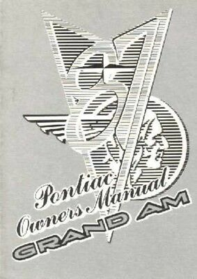 1987 Pontiac Grand Am Owners Manual User Guide Reference