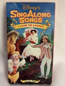 Disney Sing Along Songs I Love To Laugh : disney, along, songs, laugh, Disney's, ALONG, SONGS, LAUGH, Poppins, **VHS**, 717951029034