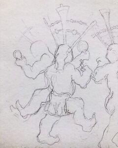 great purchase Armond Lara Original Apache Dancers Sketch
