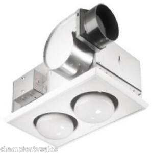 Broan Nutone 164 Bathroom Exhaust FanHeater Combo 70CFM 2 Bulb NEW 884574  eBay