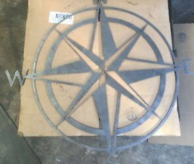 Metal Wall Art Decor Nautical Compass Ebay