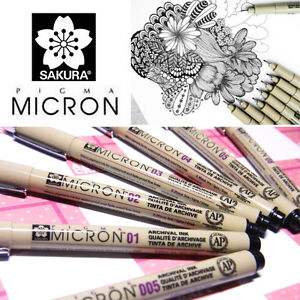 [Black] GENUINE JAPAN Sakura Pigma Micron Pen Comic Manga Drawing Sketch-ALLEY
