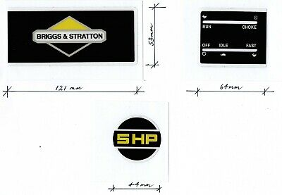 Briggs & Stratton 5HP Engine Black & Yellow Repro Decals