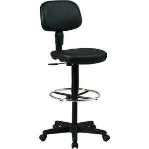 garage chairs rolling wood bankers chair work shop stool swivel adjustable height seat image is loading