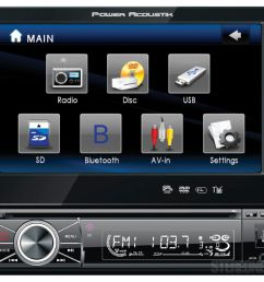 power acoustik ptid 8920b 7 inch car dvd player ebay [ 1200 x 1028 Pixel ]