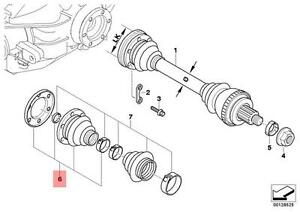 Genuine BMW E36 Z3 Rear Inner Drive Shaft CV Boot Repair